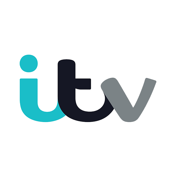 logo for ITV - one of our clients using temporary structures from us