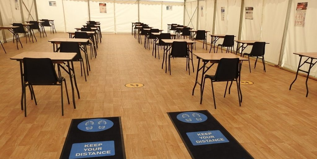 temporary classroom to help your school or college deal with the impact of Covid-19