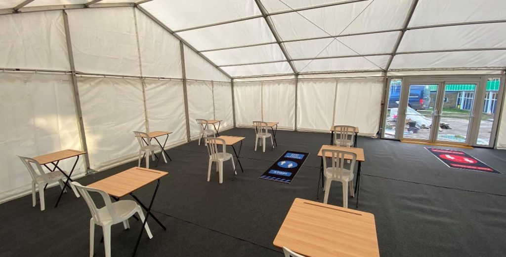 temporary canteen set up to help you deal with the impact of Covid-19